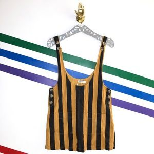 NEW Urban Outfitters striped overall skirt